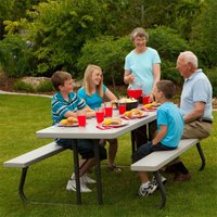 Lifetime 6-Foot Classic Folding Picnic Table, Putty