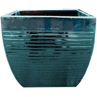 Helix Square Planter in Forest Green - 23cm