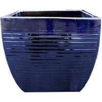 Helix Square Planter - Blue