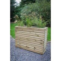 Forest Garden Wooden Linear Tall Planter