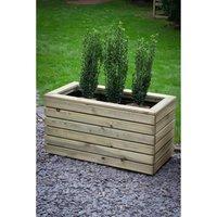 Forest Garden Wooden Linear Double Planter