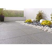 Stylish Stone Granite Paving 400 x 400mm - Dark Grey (Full