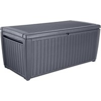 Keter Sumatra Rattan Effect Outdoor Plastic Garden Storage Box 511L - Grey