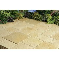 Stylish Stone Chantry Paving Patio Kit 5.76sq m - Gold
