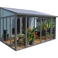 Palram SanRemo Conservatory - 3 x 4.25m - Grey / Clear
