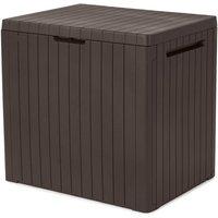 Keter City Plastic Outdoor Garden Storage Box 113L - Brown