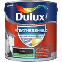 Dulux Weathershield All Weather Smooth Masonry Paint - Black