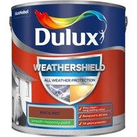 Dulux Weathershield All Weather Smooth Masonry Paint - Brick Red - 2.5L