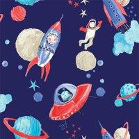 Arthouse Starship Kids Smooth Glitter Blue Wallpaper