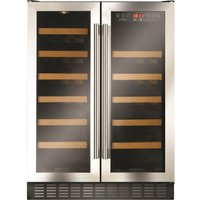 CDA FWC624SS 60cm Wide Double Door Multi Temperature Wine Co
