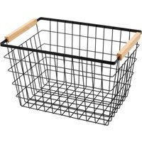 Large Iron Wire Basket with Ash Handles