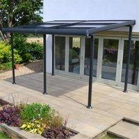 Creador Aluminium 4 x 3 Wall Gazebo with Retractable Roof