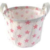 Kids Waterproof Storage Basket - Pink Stars