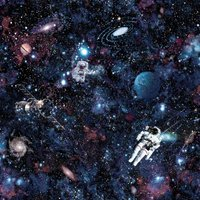 Holden Decor Intergalactic Space Kids Smooth Multi Coloured Wallpaper