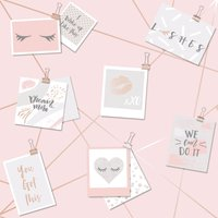 Holden Decor Dream Lashes Kids Smooth Metallic Pink and Rose Gold Wallpaper