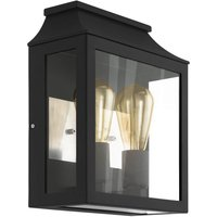 Eglo Soncino Outdoor Wall Light - Black & Clear