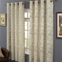 Hedgerow Lined 100% Cotton Eyelet Curtains 66 x 72 - Natural