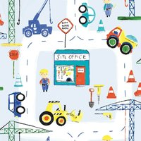 Holden Decor Road Work Ahead Kids Smooth  Multi Coloured Wallpaper