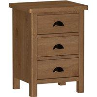 Newlyn 3 Drawer Bedside Table - Oak