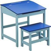 Kids Desk and Stool - Blue