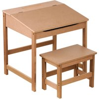 Kids Desk and Stool - Natural