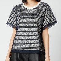 Philosophy di Lorenzo Serafini Women's Logo Lace T-Shirt - Black - L