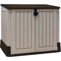 Keter Store It Out Midi Outdoor Plastic Garden Storage Shed 845L - Beige/Brown