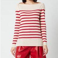 Philosophy di Lorenzo Serafini Women's Stripe Sweater with Logo on Back - Cream - IT 40/UK 8