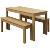 Ohio 4 Seater Dining Set - Oak