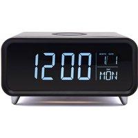 Groov-E Athena Alarm Clock with Wireless Charging Pad - Black