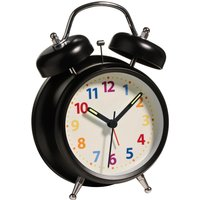 Twin Bell Alarm Clock - Black