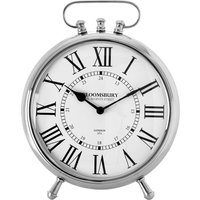 Hampstead Table Clock - Nickel Finish