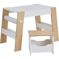 Kids Play Table and Storage Stool