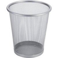 Mesh Wire Waste Bin - Silver - 5L