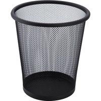 Mesh Wire Waste Bin - Black - 5L