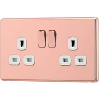 Arlec Fusion 13A 2 Gang Rose Gold Double switched socket