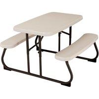 Lifetime Children?s Folding Picnic Table in Almond ? 32.5 x 19 in