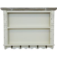 White Shabby Chic Kitchen Wall Shelf