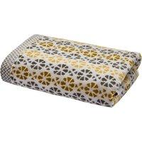 Satara Bath Sheet Grey and Chartreuse