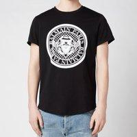 Balmain Men's Coin Flock T-Shirt - Black - XS
