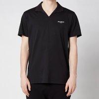 Balmain Men's Eco Design Flock Polo Shirt - Black/White - XL