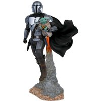 Zavvi ES|Gentle Giant Star Wars Milestones The Mandalorian Mandalorian & Child Statue