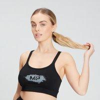 MP Women's Chalk Graphic Sports Bra - Black - XXS