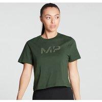 MP Women's Gradient Line Graphic Crop T-shirt- Dark Green - M