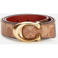 Coach Womens 25mm C Reversible Signature Belt - B4/Tan Rust - M