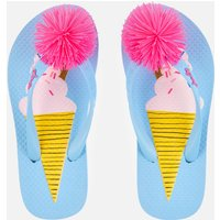 Joules Kids' Flip Flops - Blue Ice Cream - UK 10 Kids