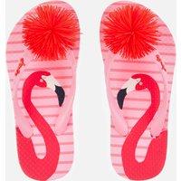Joules Kids' Flip Flops - Pink Flamingo - UK 10 Kids