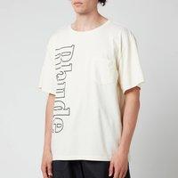 Rhude Men's Logo Pocket T-Shirt - White - M