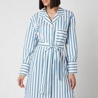 BOSS Womens Disso Shirt Dress - Open Blue - UK 8