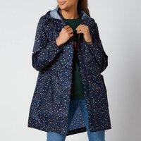 Joules Womens Golightly Packable Jacket - Multi Spot - UK 10
